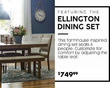 Ellington dinning set. 749 dollars and 99 cents