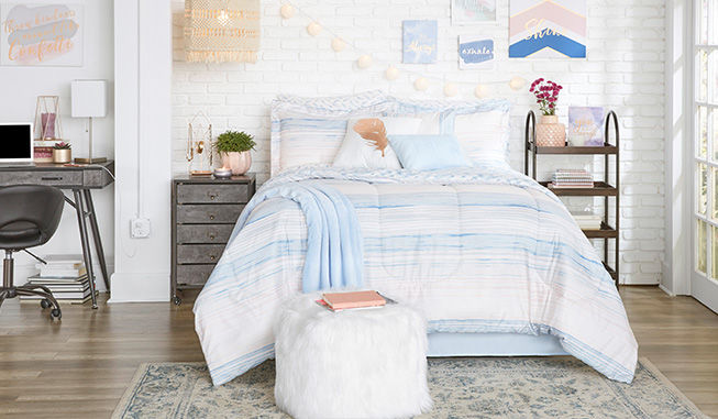 Blue Pastel Bedding Collection and Furniture