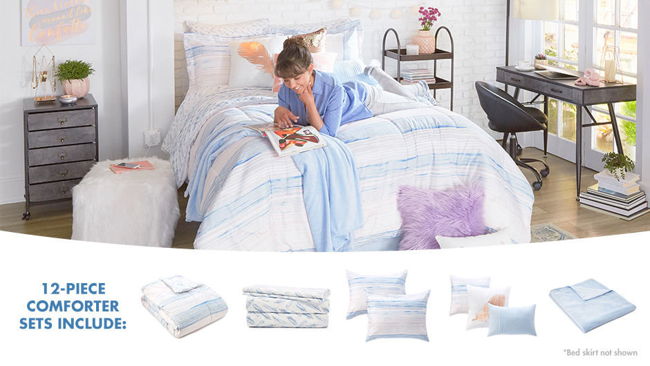Painted Pastel Bedding Set