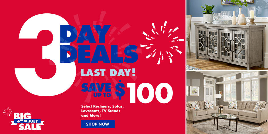 3 Day Deals Now Thru Saay July 6 Save Up To 100 Dollars On