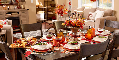 Harvest Pumpkin Decor and Kitchen Linens