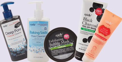 Masks and facial cleansers available in store