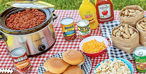 Tailgating foods: sloppy joes with toppings