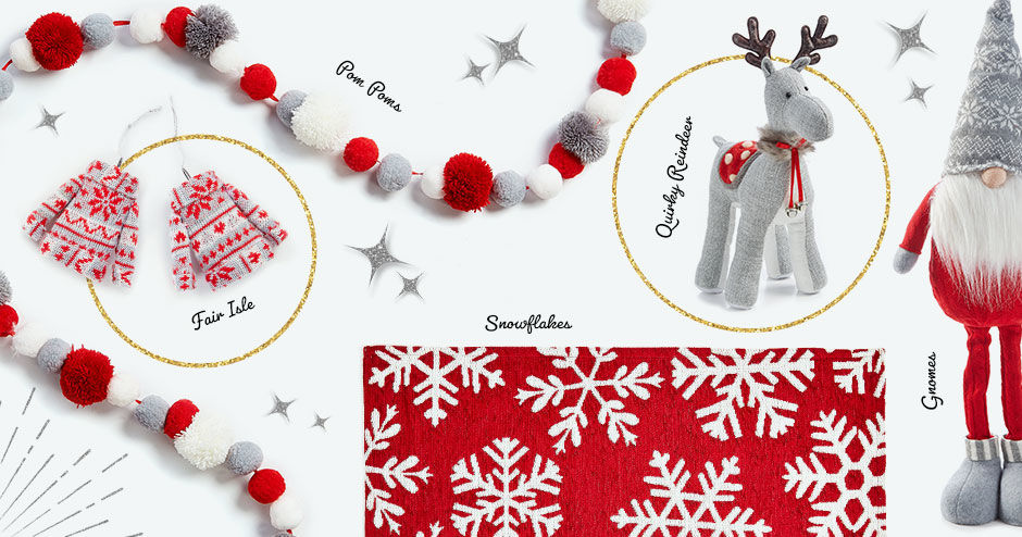 Joy is in the details! In this collection you will find fair aisle print, pom-poms, snowflakes, quirky reindeer, and gnomes.
