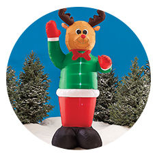 inflatables inflatables outdoor christmas lights - Pig Christmas Decorations Outdoors