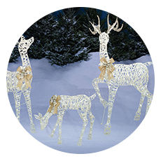 lighted lawn art - Big Lots Outdoor Christmas Decorations