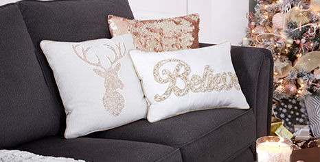 Enchantment holiday decor throw pillows