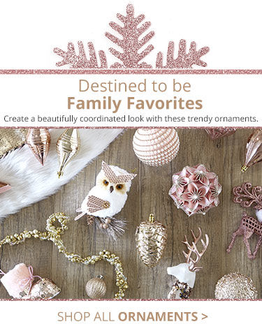 Destined to be Family Favorites. Create a beautifully coordinated look with these trendy ornaments. Shop all enhcantment ornaments.