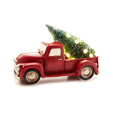 Holiday cozy red truck