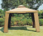 10' x 10' Avalon Gazebo with Netting Outside Setting with no patio furniture