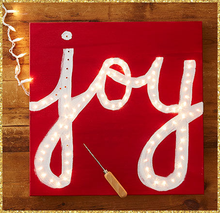 Create your own JOY sign DIY, plus other DIY Holiday decorating ideas!