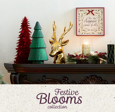 Festive Blooms Holiday Decor Collection
