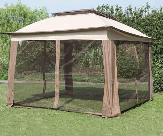 Wilson Fisher Tan Pop Up Canopy With, Big Lots Outdoor Canopy Tent