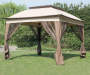 11 feet x 11 feet Pop Up Canopy with Netting outside on grass