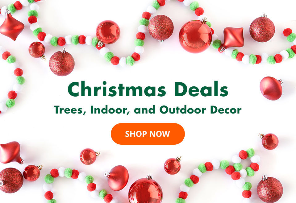 Christmas Deals. Save on Select Trees and Outdoor Decor.