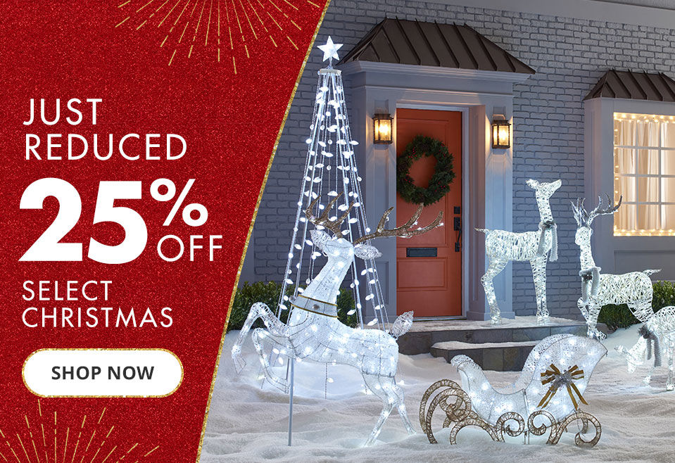 Shop twenty five percent off select christmas clearance