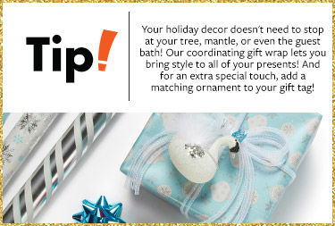 Tip - add a special touch to your gifts by adding a matching ornament to your gift tag!