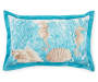 11X18 BLUE CORAL/SHELLS PILLOW