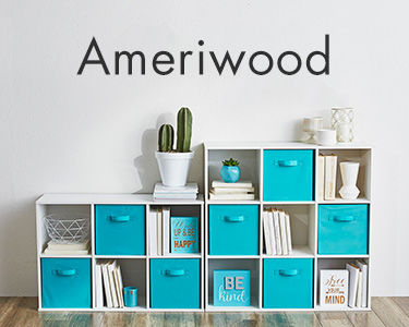 Ameriwood Storage Cubes and Fabric Bins