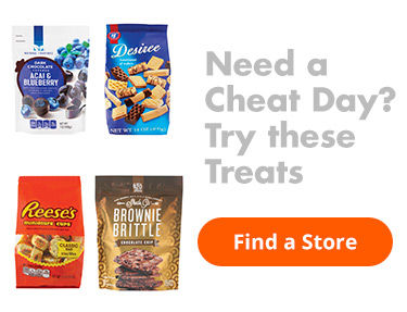 Need a Cheat Day. Try these treats. Find a Store.