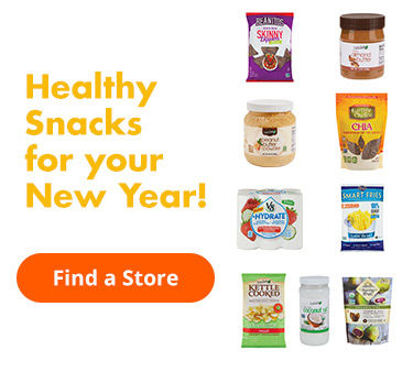 Healthy snacks for your New Year! Find a Store.