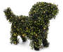 "15""H LIGHTED DOG TOPIARY"