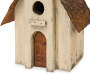 "15.63""H Distressed Wooden Birdhouse"