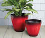15in Red Cassini Drip Planter lfestyle