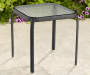 "16"" Black Glass Top Side Table"