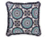 16 IN GEO FES NAVY W FRINGE PILLOW