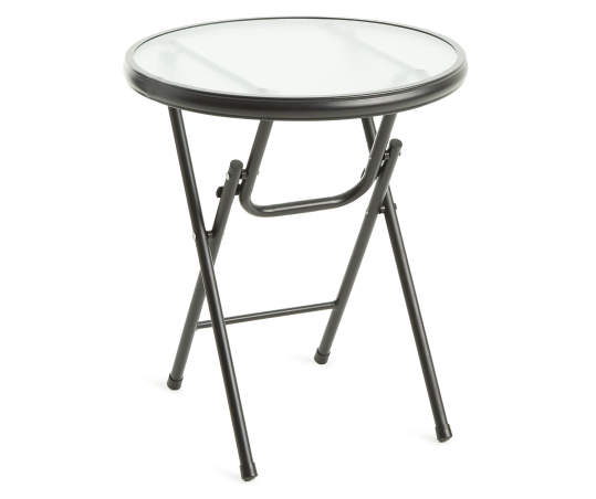 Real Living 16 Square Glass Top Folding Side Table Big Lots