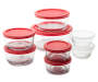 16 Piece Glass Food Storage Set Stacked Silo Image