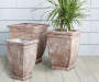16in Ancient Square Fiberglass Planter lifestyle