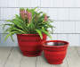 16in Red Zeus Brushed Planter lifestyle