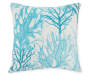 17 IN BLUE OCEAN CORAL PILLOW