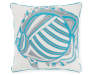 17 IN BLUE SILVER STITCH FISH PILLOW