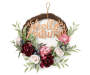 19IN FLORAL WREATH