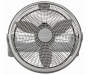 "20"" Silver 3-Speed Power Fan Silo Image Front View"