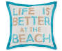 20 IN BETTER AT THE BEACH BLUE PILLOW