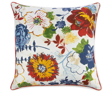b11601cbdd2dc3 Blue & Red Marqaux Floral Outdoor Throw Pillow, (20