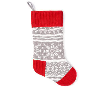 winter wonder lane knit fair isle christmas stocking 20 big lots