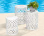 22in White Metal Garden Table lifestyle