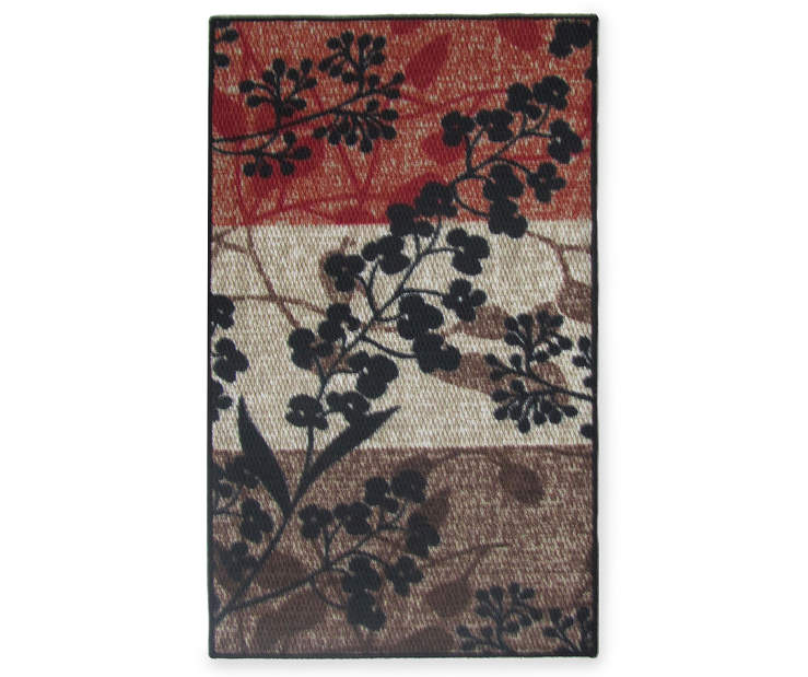 26 inch by 45 inch Raven Multi-Color Rug
