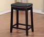 26 inches Brooke Black Saddle  Barstool lifestyles