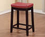 26 inches Brooke Red Saddle Barstool lifestyle