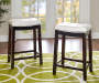 26 inches Brooke White Saddle Barstool lifestyle