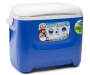 28 Quart Island Breeze Cooler with Bonus Ice Blanet with Handle Angled View Silo Image