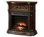 28 inch Cherry Petite Foyer Electric Fireplace silo angled