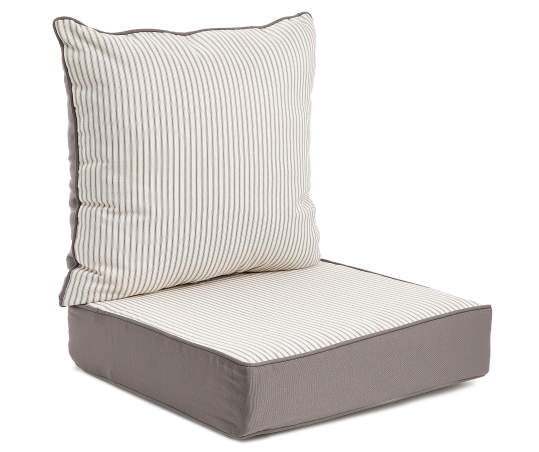 Real Living Gray Mini Ticking, Wicker Patio Cushions Clearance