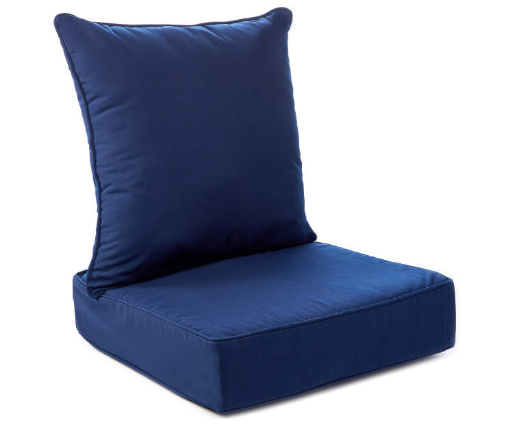 2PC NAVY DEEP SEAT CUSHIONS